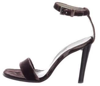 Prada Strapped Velvet Sandals