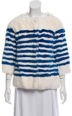 Marc Jacobs Rex Rabbit Fur Jacket Blue Rex Rabbit Fur Jacket