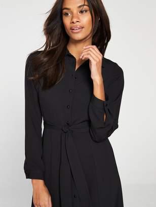 Very Button Through Midaxi Shirt Dress - Black