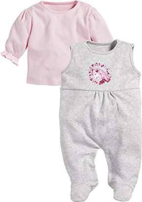 Playshoes Baby Girls' Set Einhorn Romper,(Manufacturer Size: 68)