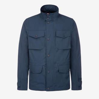 Bally Cotton Canvas Field Jacket Blue, Men's cotton canvas field jacket in navy