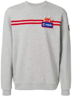 Au Jour Le Jour For Colmar logo stripe sweatshirt