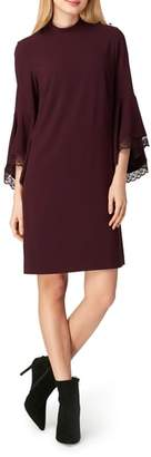 Tahari Bell Sleeve Shift Dress