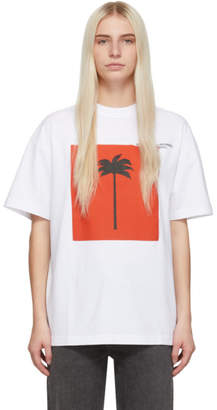 Palm Angels White Big Palm x Palm T-Shirt