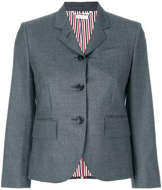 Thom Browne Center-back Stripe Sport Coat In Solid Wool Twill