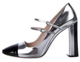 Miu Miu Patent Leather Cape-Toe Heels