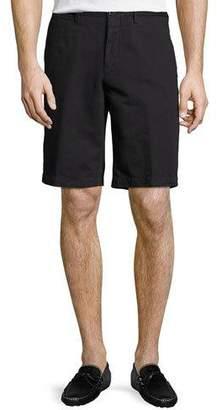 Ermenegildo Zegna Cotton-Linen Straight-Leg Shorts $395 thestylecure.com
