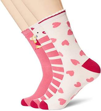 Toes in A Blanket Women's moisture-free colorful pattened ankle Love socks 3-pair pack