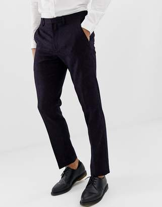 Burton Menswear slim fit tuxedo trousers in dark purple