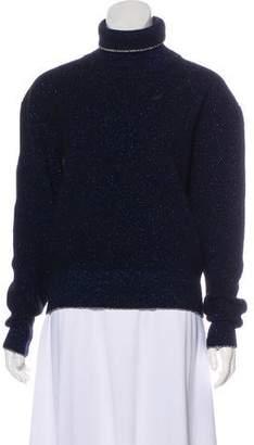 Christopher Kane Metallic Turtleneck Sweater