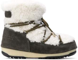 Yves Salomon shearling lace-up boots