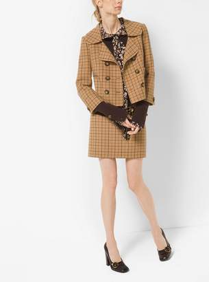 Michael Kors Tattersall Double-Face Wool Jacket