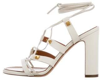 Valentino Leather Lace-Up Sandals