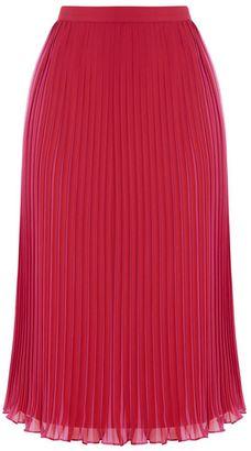 Warehouse Pleated Midi Skirt