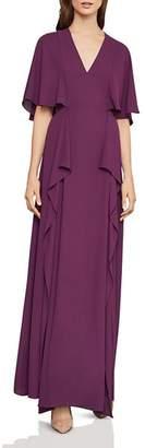 BCBGMAXAZRIA Georgette Flutter Gown