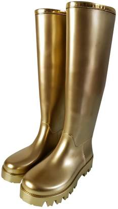 Dolce & Gabbana Gold Synthetic Boots