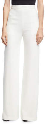 Brandon Maxwell High-Waist Crepe Wide-Leg Trousers