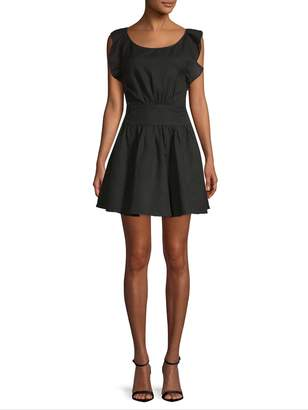 Free People Women's Collette Ruffle-Trim Mini Dress