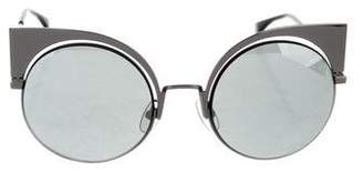 Fendi Reflective Cat-Eye Sunglasses