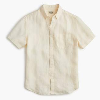 J.Crew Slim short-sleeve garment-dyed shirt in Irish linen