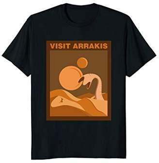 Dune Sand Visit Arrakis Fantasy Tourist Poster Graphic Shirt