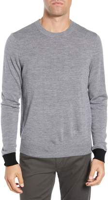 ATM Anthony Thomas Melillo Contrast Cuff Merino Wool Sweater