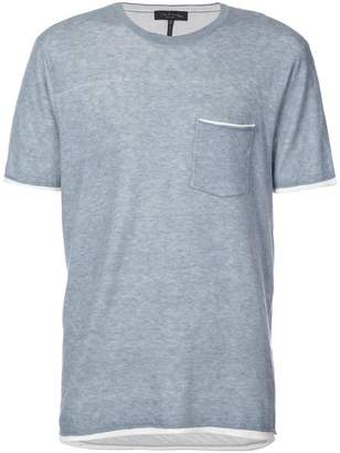 Rag & Bone double layer crew neck T-shirt