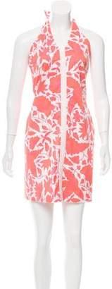 Tibi Floral Print Halter Dress