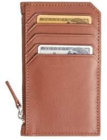 Royce New York Zip Leather Credit Card Wallet
