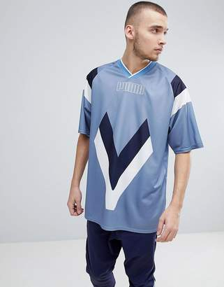 Puma Heritage Football T-Shirt In Blue 57499875