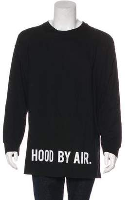 Hood by Air 2017 Layered-Accented Longline Logo Sweatshirt