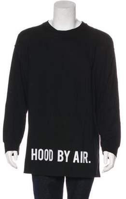 Hood by Air 2017 Layered-Accented Longline Logo Sweatshirt