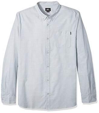 O'Neill Men's Modern Fit Oxford Long Sleeve Button UP Shirt