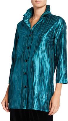 Caroline Rose Petite Luminous Jacquard 24/7 Shirt