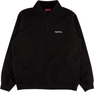 Supreme Color Blocked Half Zip Sweatsh - 'SS 18' - Black