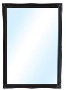 MirrorOutlet Large Black Antique Shabby Chic Wall Mounted Mirror 3Ft4 X 2Ft4, 102Cm X 72Cm Single (30)