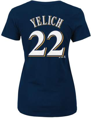 Majestic Plus Size Milwaukee Brewers Christian Yelich Name and Number Tee
