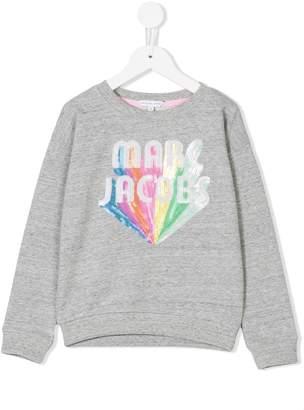Little Marc Jacobs sequin logo sweatshirt