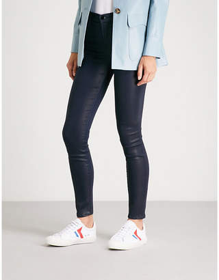 J Brand Maria skinny high-rise coated jeans