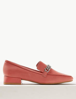 Marks and Spencer Leather Chain Detail Loafers