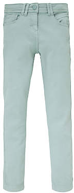 John Lewis & Partners Girls' Slim Fit Trousers, Aqua
