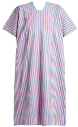 Pippa Holt - No.100 Embroidered Cotton Kaftan - Womens - Pink Multi