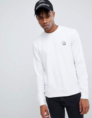 Cheap Monday Tiny Skull Logo Sweatshirt White