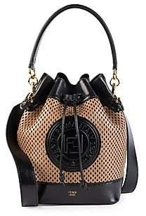 Fendi Women's Mon Tresor Perforated Leather Bucket Bag