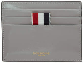 Thom Browne Grey Double-Sided Card Holder