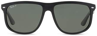 Ray-Ban Polarized Flat Top Sunglasses $190 thestylecure.com