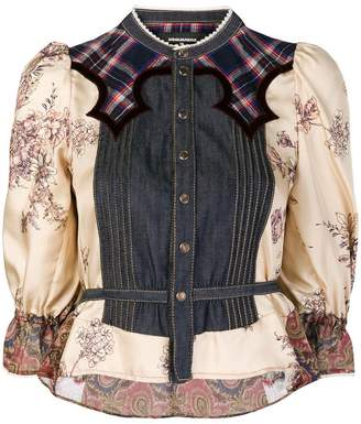 DSQUARED2 printed denim blouse