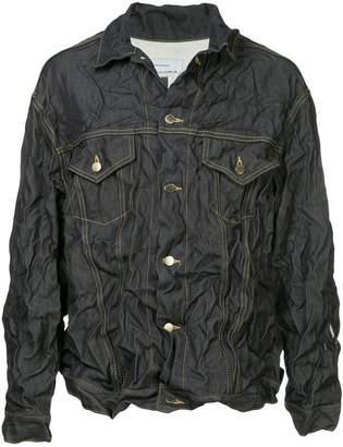 Facetasm x Woolmark crinkled denim jacket