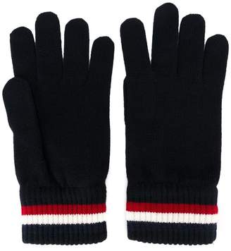 Moncler striped trim gloves