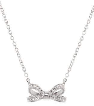 Ted Baker Opulent Pave Bow Olessi Crystal Pendant Necklace